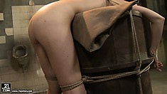 Dark mistress hugs and then punishes her lovely slave with soft and gorgeous ass