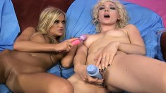 McKenzee Miles, Vicki Chase and Lily Labeau have some girl-on-girl fun