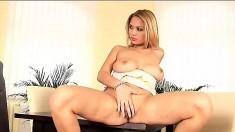 Lenka Gaborova feeds her desire for masturbation when she's by herself