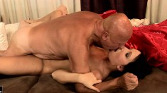 Grandpa gets his lifelong wish by getting a young broad banging him