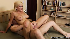 He pounds the hot pussy palace of sexy blonde hottie Lexi Swallow
