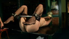Striking brunette beauty Yoha gets dominated and enjoys pure pleasure