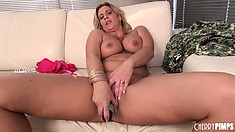 Phyllisha Anne takes herself to the edge by going solo with a toy