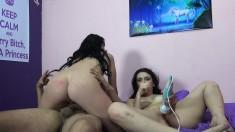 Lustful chicks Mandy Muse and Marley Mathews enjoying intense orgasms