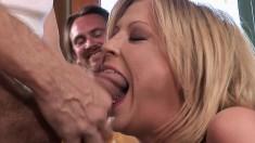 Stacked blonde wife Lya fucks a stranger to please her kinky husband
