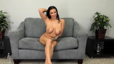 Curvaceous Brunette Shows Off Her Amazing Body And Fucks A Huge Dick