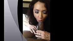 POV blowjob and anal for a big cock