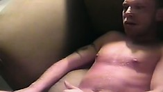 Dick-slurping Aden gets a mouthful of his lover's pierced manhood