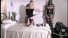 Beautiful mistress Erzsbet loves to teach her naughty slaves a lesson