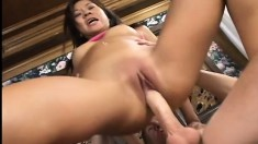 Sweet Asian cutie finally lets him take a test drive in her ass