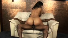 Beautiful Ebony Babe With A Marvelous Big Booty Takes A Black Cock In Her Snatch