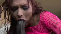 Katja Kassin chokes on his monster cock before she gets her ass nailed