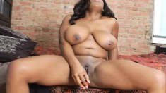 Curvaceous Black Hottie Ms Panther Pleases Her Needy Twat With A Dildo
