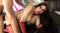 Buxom milf in sexy lingerie Sheila Marie gets her snatch drilled deep