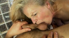 Naughty Old Woman Enjoys A Relaxing Massage And An Intense Pounding