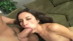 Skinny young starlet gets her tight cumhole stretched with a mighty cock