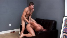 Two lustful painters take a quick break to enjoy some intense anal sex