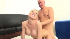 Big Breasted Blonde Beauty Gets Banged Deep By Dan All Over The Bed