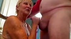 Big Titted Granny Handjob