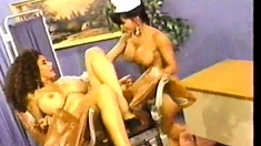 Vintage Lesbians Lick Each Others Hairy Pussies