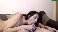 Milf from free european porn video does a nice handjob