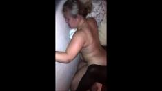 Hardcore interracial slut sucks and fucks big black cock