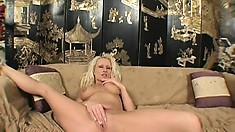 Curvy blonde Natasha Stone begs a black stud to fuck her hard