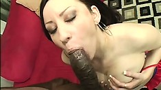 Maya loves her meat dark to eat and fuck, then likes cum on her face