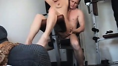 Horny Milf gets a good hard fuck and is left with a messy creampie