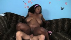Huge titted Marie Leone gets her nasty black snatch crammed with meat
